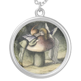 Kissing Faerie and Pixie Necklace