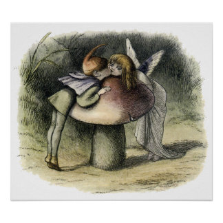 Kissing Faerie and Pixie Poster