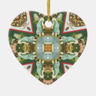 Kissing Fairies Ceramic Ornament