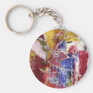 kissing few basic round button keychain