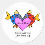 Kissing Fish Address Label Stickers