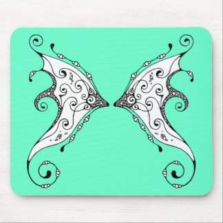 Kissing Fish Fairy Wings Mouse Pad