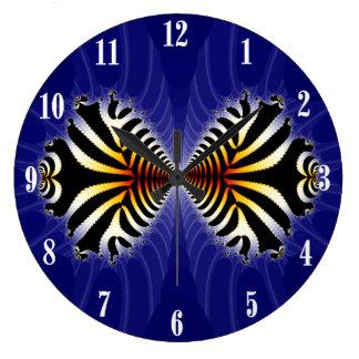 Kissing Fish Fractal Zebra Fish Wall Clocks
