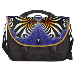 Kissing Fish Fractal Zebra Fish Laptop Messenger Bag