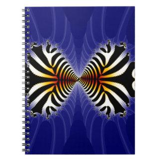 Kissing Fish Fractal Zebra Fish Spiral Note Book