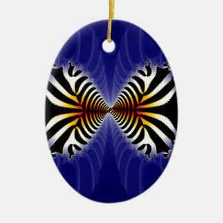 Kissing Fish Fractal Zebra Fish Ornaments