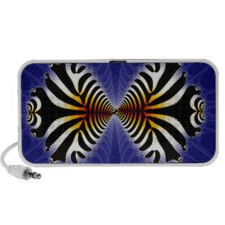 Kissing Fish Fractal Zebra Fish iPod Speakers