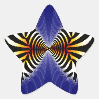 Kissing Fish Fractal Zebra Fish Star Stickers