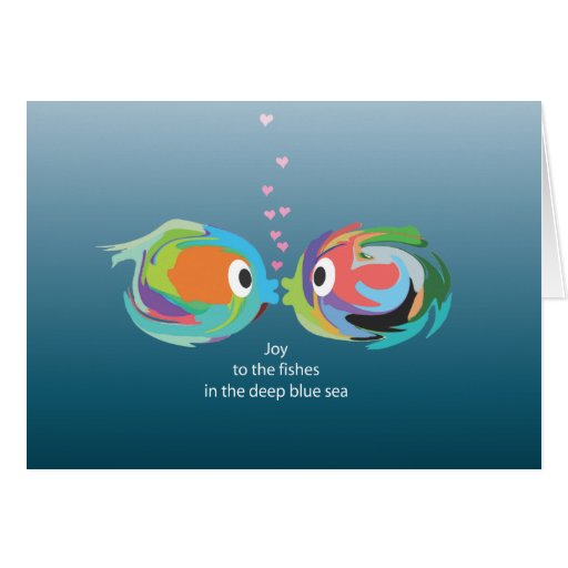 Kissing Fish note card