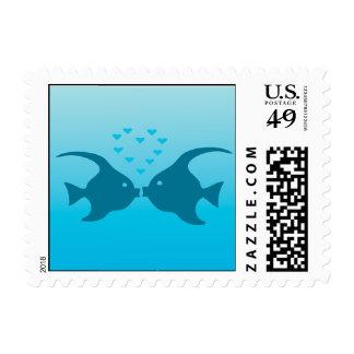 Kissing fish stamp