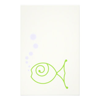 Kissing Fish With Bubbles Stationery
