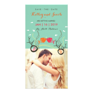 Kissing Fishes Fish Coral Sea Beach Save The Date Photo Card