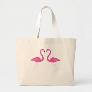 Beach Themed Kissing Flamingos Tote
