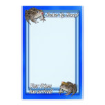 Kissing Frog & Her Frog Prince Personalized Stationery