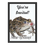 Kissing Frog - Pucker Up, Honey! 5x7 Paper Invitation Card