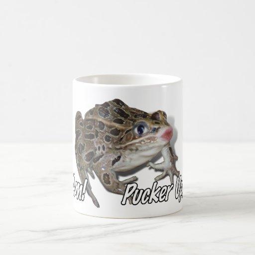 Kissing Frog - Pucker Up, Honey! Classic White Coffee Mug