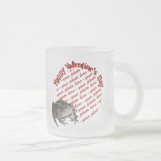 Kissing Frog  Valentine Photo Frame Coffee Mug