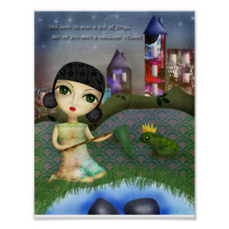 Kissing Frogs Poster