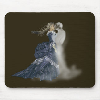 kissing ghost mouse pad