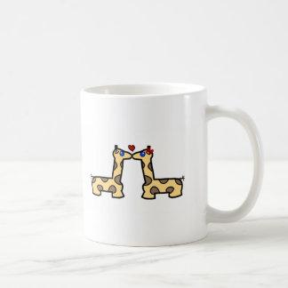 Kissing Giraffes Coffee Mug