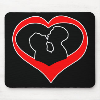 Kissing Heart-dark Mouse Pad