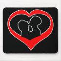 Kissing Heart-dark mousepad