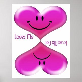 Kissing Hearts Loves Me, Loves Me Not Poster