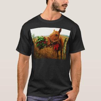 Kissing Horse under Mistletoe T-Shirt