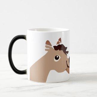 Kissing Horses Magic Mug