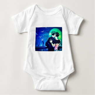 Kissing in the Moonlight at the Statue of Liberty Baby Bodysuit