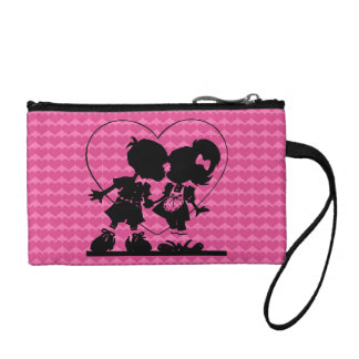 kissing kids coin purse