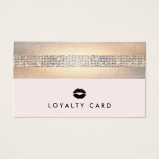 Kissing Lips Pink Beauty Loyalty 10 Punch Business Card