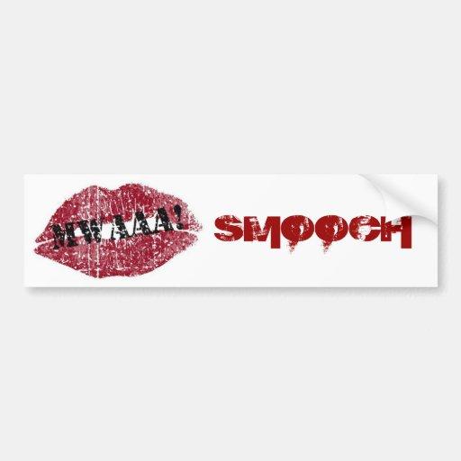 Kissing Lips Valentine Bumper Sticker