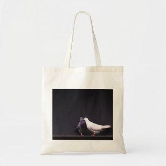 Kissing Love Birds Canvas Bags