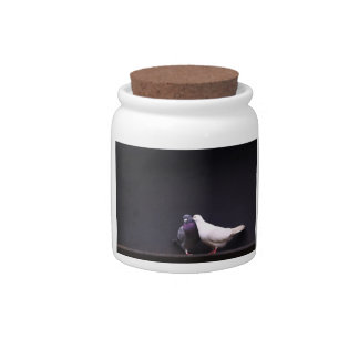 Kissing Love Birds Candy Jar
