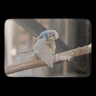 Kissing Love Birds Photo Custom Kitchen Mat /