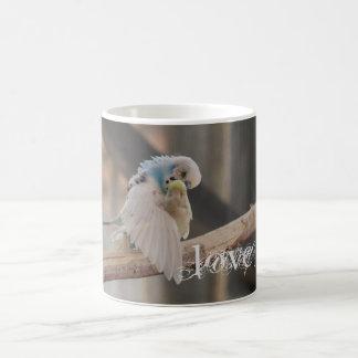 Kissing Love Birds Photo Personalized Custom Coffee Mug