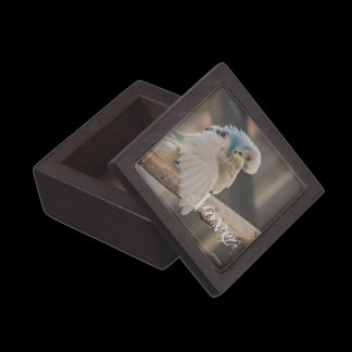 Kissing Love Birds Photo Personalized Custom Gift Box