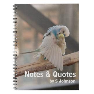 Kissing Love Birds Photo Personalized Custom Journ Notebook