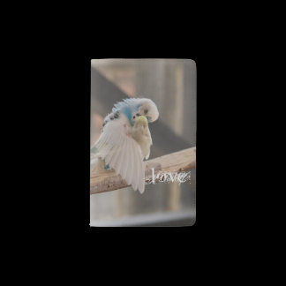 Kissing Love Birds Photo Personalized Custom Pocket Moleskine Notebook