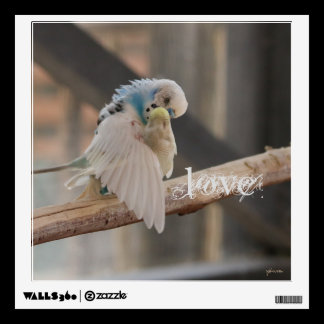 Kissing Love Birds Photo Personalized Custom Wall Sticker