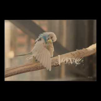 Kissing Love Birds Photo Personalized Custom Wood Wall Decor