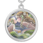 Kissing Mermaids Necklace