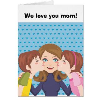 Kissing Mom Card