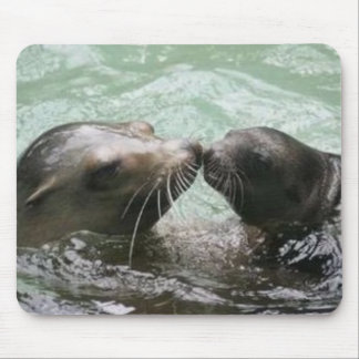 Kissing Mom Mouse Pad