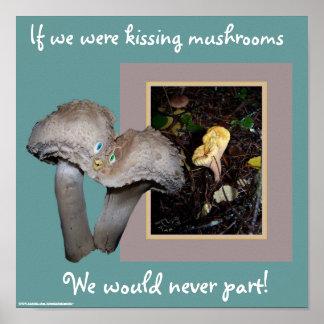 Kissing Mushrooms Print