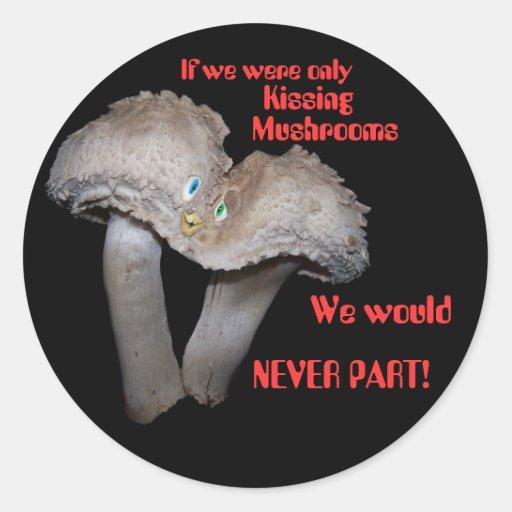 Kissing Mushrooms Sticker
