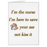 kissing nurse copy greeting card