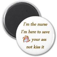 kissing nurse magnet