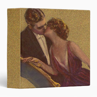 Kissing on the Chaise-Longue Valentine 3 Ring Binders